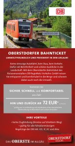 Flyer Oberstdorfer Bahnticket